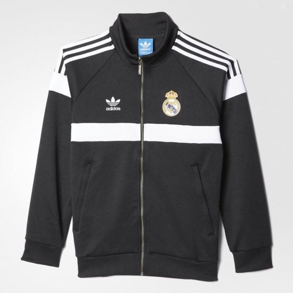 40993c021 Adidas originals men Real Madrid truck jacket jersey adidas ORIGINALS Men's  Real Madrid Track Jacket Black ...