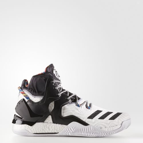 (索取)阿迪达斯人D玫瑰7鞋篮球鞋adidas Men's D Rose 7 Shoes Running White Ftw/Black/Metallic Gold