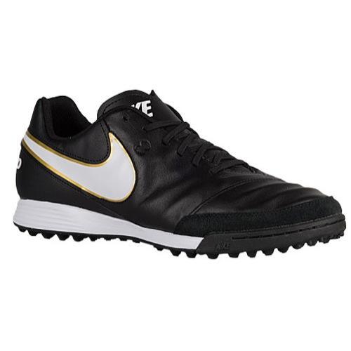 NIKE ナイキ メンズ フットサルシューズ ティエンポ ジェニオ 2 レザー tr Nike Men's Tiempo Genio II Leather TF Black White 【コンビニ受取対応商品】