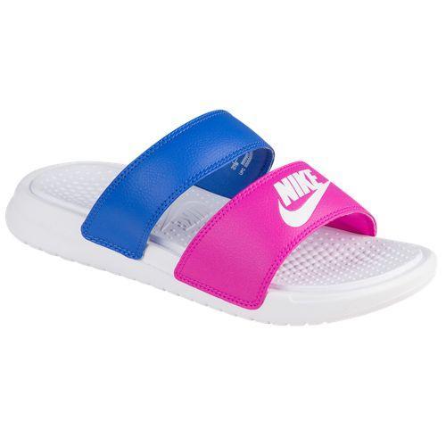 Nike ナイキサンダルレディースベナッシデュオウルトラスライド 819717 603 NIKE Women s Benassi Duo Ultra  Slide Fire Pink White Comet Blue a9e668ba2347