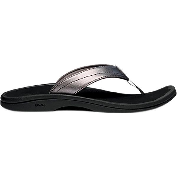 (取寄)オルカイ レディース 'Ohana フリップ フロップ Olukai Women 'Ohana Flip Flop Pewter/Black