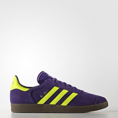 (索取)adidasuorijinarusumenzugazerusunika adidas originals Men's Gazelle Shoes Unity Purple/Solar Yellow