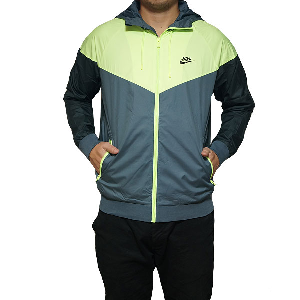 NIKE windbreaker Nike men wind runner jacket NIKE Men's WINDRUNNER  Hasta/Ghost Green/Seaweed/Black