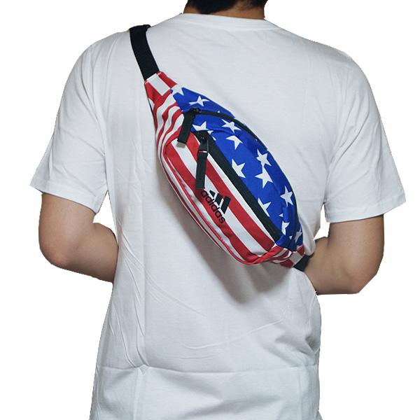 Adidas bag bum-bag body bag Rand 2 Waist Pack Americana White Star-Spangled  Banner USA 46a71ad204a9