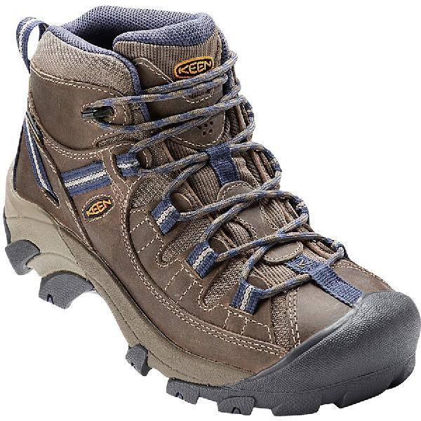 【マラソン ポイント10倍】(取寄)キーン レディース ターギー 2 ミッド ハイキングシューズ KEEN Women Targhee II Mid Hiking Shoe Goat/Crown Blue