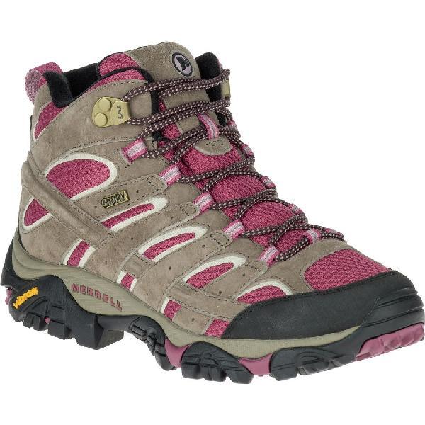 (取寄)メレル レディース モアブ 2 ミッド ハイキング ブーツ Merrell Women Moab 2 Mid Hiking Boot Boulder/Blush