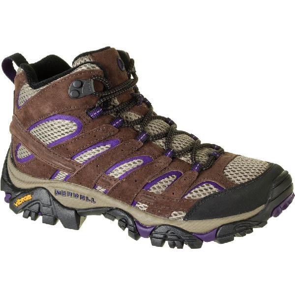 (取寄)メレル レディース モアブ 2 ミッド ベント ハイキング ブーツ Merrell Women Moab 2 Mid Vent Hiking Boot Bracken/Purple