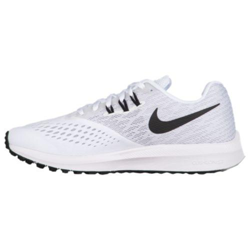 timeless design 9b932 464ad (order) Nike Lady s zoom Win flow 4 Nike Women s Zoom Winflo 4 White Black  Wolf Grey