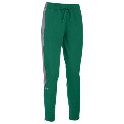 (取寄)アンダーアーマー レディース チーム スクウォッド ウーブン ウォーム アップ パンツ Under Armour Women's Team Squad Woven Warm Up Pants Green Steel
