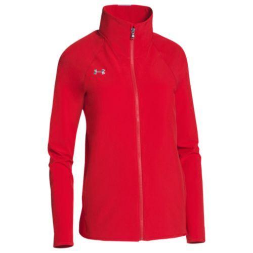 (取寄)アンダーアーマー レディース チーム スクウォッド ウーブン ウォーム アップ ジャケット Under Armour Women's Team Squad Woven Warm Up Jacket Red Steel