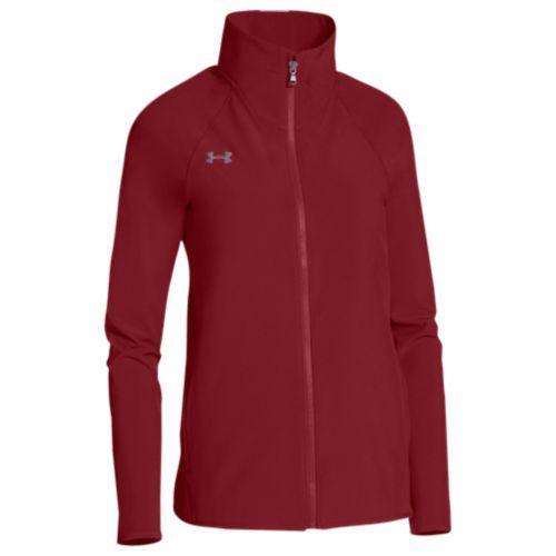 (取寄)アンダーアーマー レディース チーム スクウォッド ウーブン ウォーム アップ ジャケット Under Armour Women's Team Squad Woven Warm Up Jacket Cardinal Steel