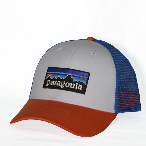 d2c3a1171f2 Patagonia P6 logo rope lot lacquer hat Patagonia P-6 LoPro Trucker Hat  White w Carve Coral red blue