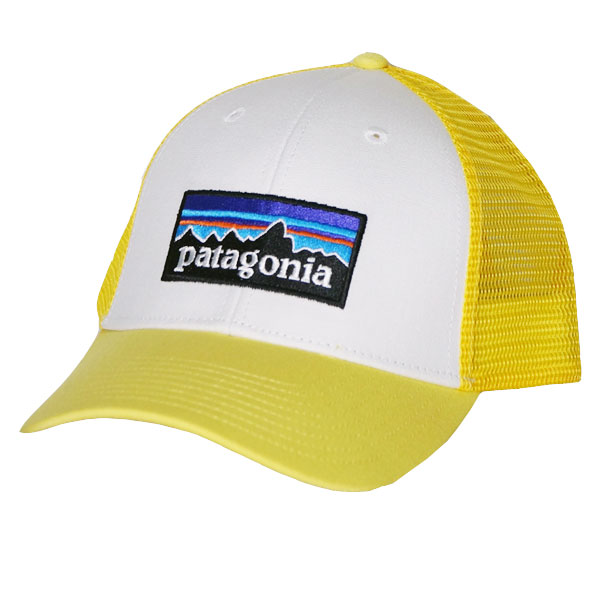 Patagonia P6 logo rope lot lacquer hat Patagonia P-6 LoPro Trucker Hat  White w Yoke Yellow yellow 3f6be469444
