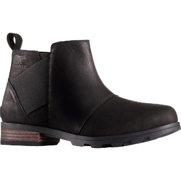 (取寄)ソレル レディース エミリー チェルシー ブーツ Sorel Women Emelie Chelsea Boot Black/Black