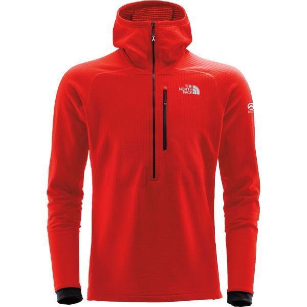 (取寄)ノースフェイス メンズ サミット L2ヒューズフォーム グリッド フリース フーデッド 1/2-Zip ジャケット The North Face Men's Summit L2 FuseForm Grid Fleece Hooded 1/2-Zip Jacket Fiery Red