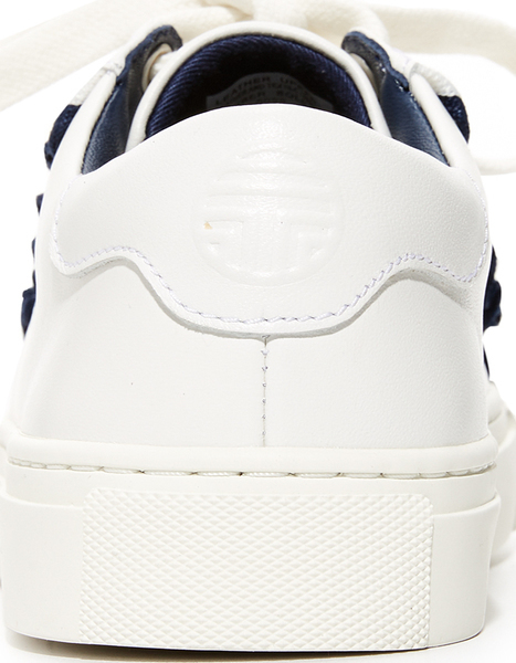 faddd0f11565 Tory Burch Women s Tory Sport Ruffle Sneakers Tolly Birch Lady s Tolly  sports raffle sneakers Snow White Navy Sea