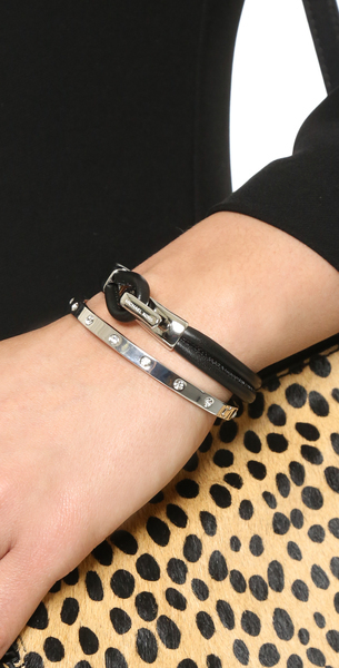 It Supports Kate Spade New York Set In Stone Hinged Bangle Bracelet Hinge Clear Silver