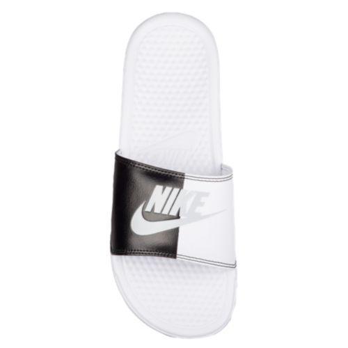 (取寄) JDI メンズ Nike Mens Benassi JDI Slide Black Pure Platinum White スライド サンダル ナイキ ベナッシ