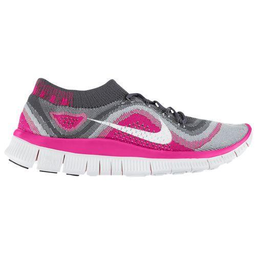 (取寄)ナイキ レディース フリー フライニット+ スニーカー Nike Women's Free FlyKnit+ Dark Grey White Wolf Grey Pink Foil