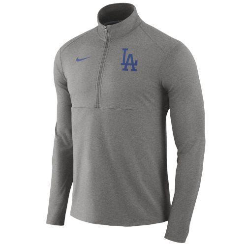 (取寄)ナイキ メンズ MLB トレーニングウェア ハーフジップ ゲーム エレメント 1/2 ジップ トップ ロス エンジェルス ドジャース Nike Men's MLB Game Element 1/2 Zip Top Los Angeles Dodgers Dark Grey Heather