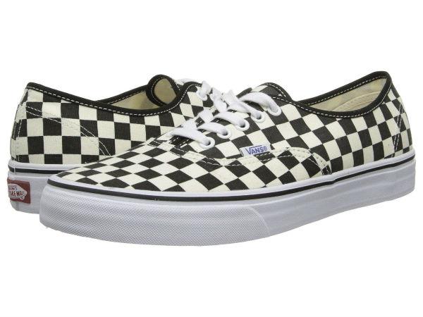 (取寄)Vans(バンズ) スニーカー オーセンティック メンズ Vans Men's Authentic (Golden Coast) Black/White Checker