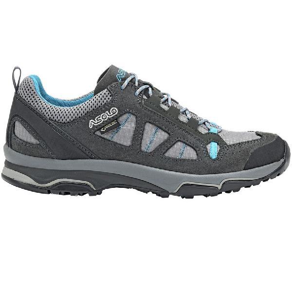 (取寄)アゾロ レディース メガトン GV ハイキングシューズ Asolo Women Megaton GV Hiking Shoe Graphite Stone/Cyan Blue