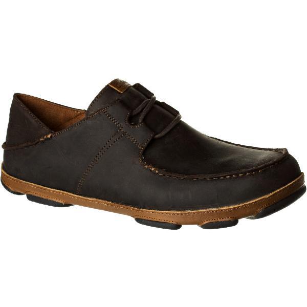 (取寄)オルカイ メンズ Ohana Lace-Upヌバック シューズ Olukai Men's 'Ohana Lace-Up Nubuck Shoe Dark Wood/Toffee 【コンビニ受取対応商品】