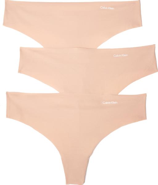 (取寄)Calvin Klein Underwear Women's 3 Pack Invisibles Thongs カルバンクライン アンダーウェア レディース 3 パック インビジブル トング Light Caramel