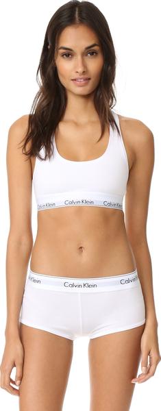(取寄)Calvin Klein Underwear Women's Modern Cotton Bralette カルバンクライン アンダーウェア レディース モダン コットン ブラレット White