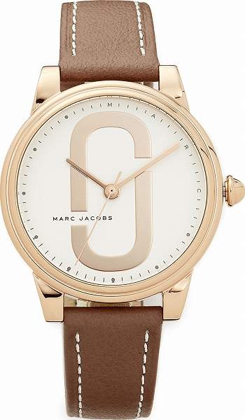 Marc Jacobs マークジェイコブス 時計 Corie Leather Watch コリエ レザー ウォッチ Rose Gold/White/Cement