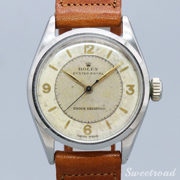 【ROLEX/ロレックス】OYSTER ROYAL/Ref.6444/TWO-TONE DIAL/SILVER MIRROR/Cal.1210/1956年/w-20558