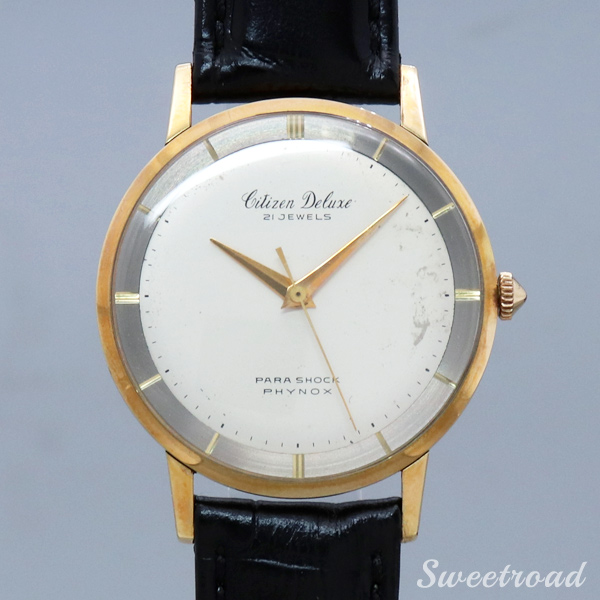 【CITIZEN/シチズン】Deluxe/14KGF/TWO-TONE DIAL/Cal.900/1959年製/w-20421