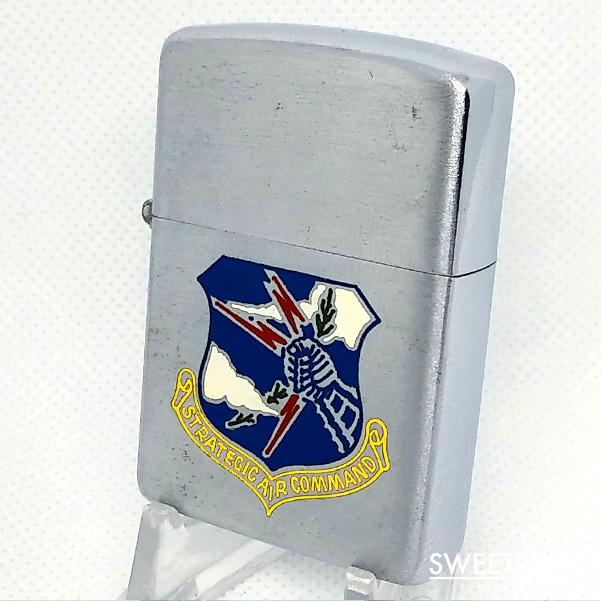 未使用品【ZIPPO LIGHTER/ジッポーライター】戦略航空軍団/アメリカ空軍/Strategic Air Command/フルスタンプ/1954年後期-55年前期/インサイド同年式/vz-107