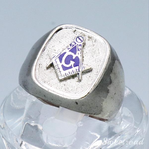 【Vintage Mason Ring】Freemasonry/フリーメイソン/12 size/w-20307