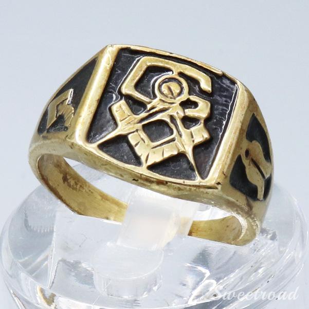 【Vintage Mason Ring/メイソンリング】Freemasonry/フリーメイソン/21号/w-20944