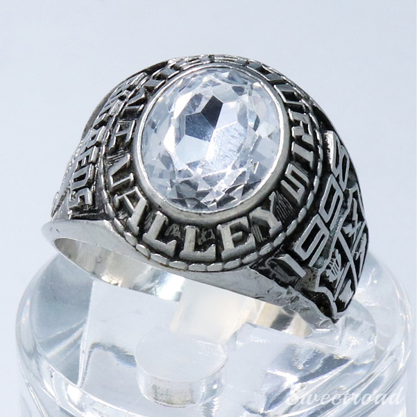 【College Ring/カレッジリング】JOSTENS/ジャスティン社/ドーム型/合金製/20号/ミズーリ・バレー・HS/1998年製/w-21413