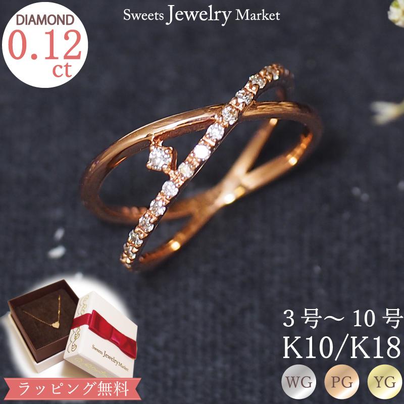 ダイヤモンド0.12ct ピンキーリング水しぶきのようなダイヤモンドの輝きを小指に添えて