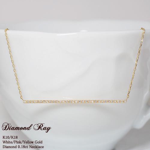 ダイヤモンド 0.18ct ネックレス