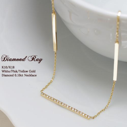 ダイヤモンド 0.10ct ネックレス