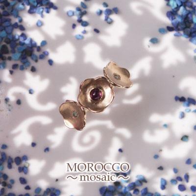 大人の上品モロッコジュエリー「MOROCCO~mosaic~」K18YG 天然カラーストーンリング 送料無料 プレゼント ギフト