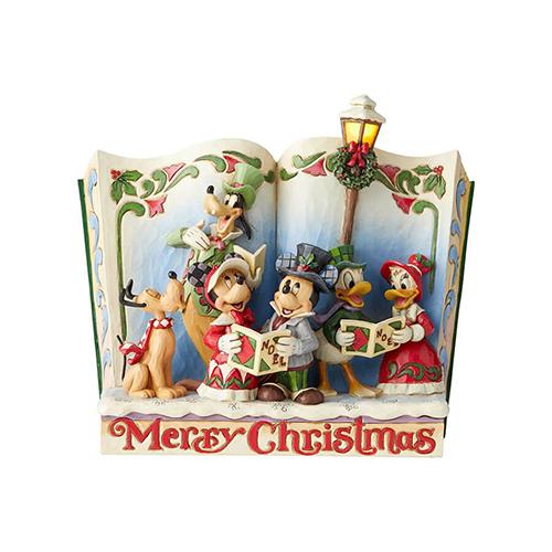 Disney Traditions フィギュア ミッキー&フレンズ ストーリーブック <クリスマス> DIS-TB-6002840