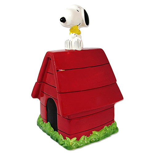 送料無料【スヌーピー】【ピーナッツ】クッキージャー DOG HOUSE