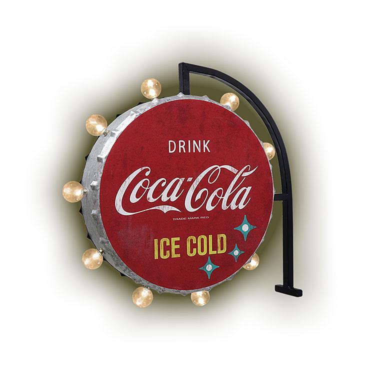 Coke (コカ・コーラ) オフ ザ ウォール LED サイン COCA-COLA ICE COLD ROUND CC-CA-LE-191339