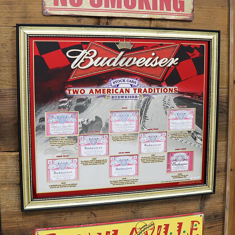 アンティーク パブ ミラー Budweiser