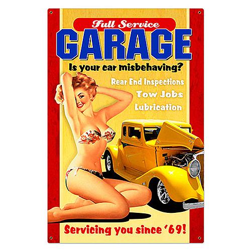 スティール サイン (スチール サイン)Full Service Garage VXL-039