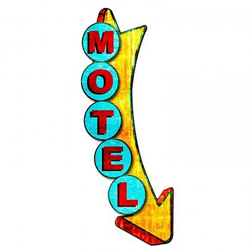 スティール サイン (スチール サイン) 3-D Motel Metal Display PS-358