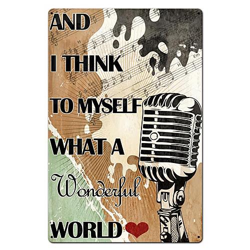 スティール サイン (スチール サイン) What A Wonderful World PTBS-049