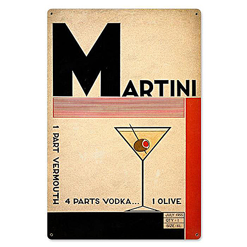 スティール サイン (スチール サイン) Martini Deco VXL-173