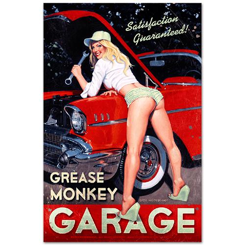 スティール サイン (スチール サイン) Greg Hildebrandt Grease Monkey HB-159