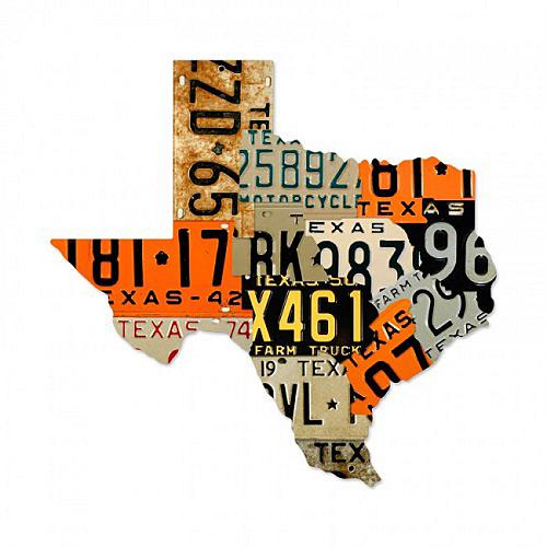 スティール サイン (スチール サイン) Texas License Plates PS-095